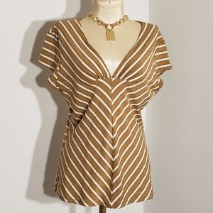Paper Doll striped top size Large